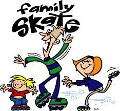 family roller skating